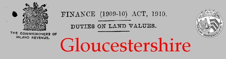 Lloyd George Land Tax: Gloucestershire